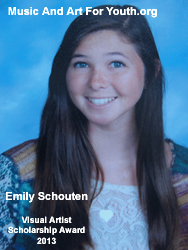 Emily Schouten Visual Arts Award 2013
