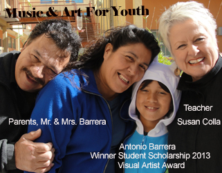 Visual Artist Student Scholarship Antonio Barrera Family & Teacher