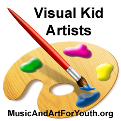 Paint Brush Gifted Kid Visual Artist Logo Text