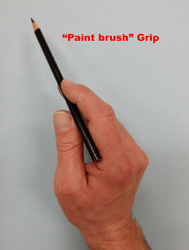 Charcoal Drawing Paint Brush Grip #3