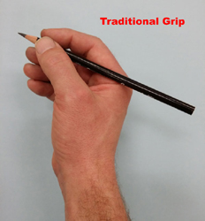 Charcoal Drawing Traditional Grip #1